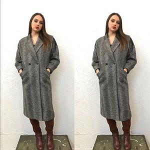 Vintage 80's Herringbone Trench coat